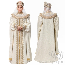 Костюм русской царицы бежевый