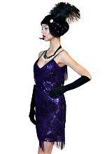 Платье с бахромой фиолетовое, Чикаго 30-х
