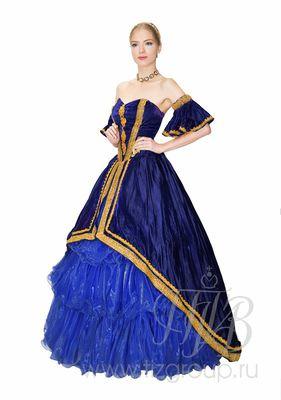 Бальное платье, синее