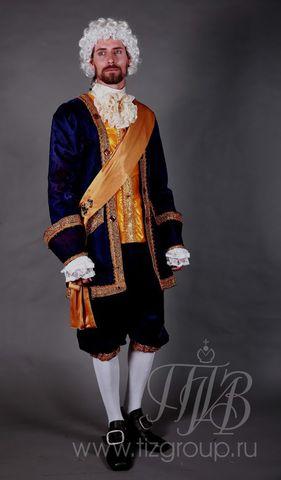 Мужской костюм придворного, 18 век (синий)