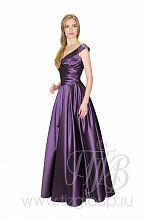 Фиолетовое бальное платье 5