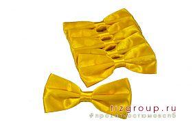 Желтый галстук бабочка
