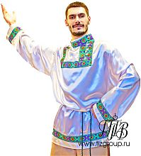 Русская мужская народная рубашка косоворотка, пошив