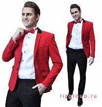 Красный костюм мужской свадебный костюм для жениха в санкт-петербурге
