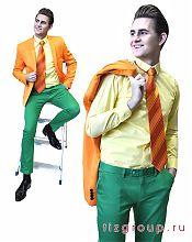 Костюм Стиляги оранжевый пиджак