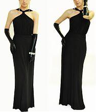 Черное платье в пол.Вечернее платье