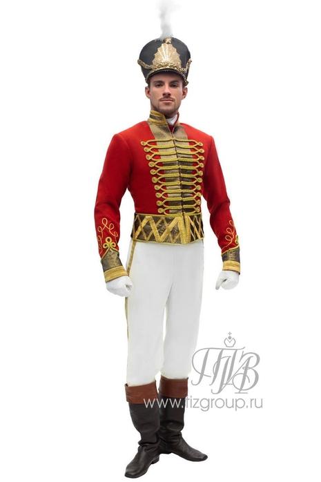 Костюм Гусара, красный доломан - купить за 32000 руб: недорогие мужские костюмы в СПб