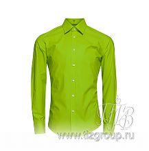 Зеленая рубашка мужская