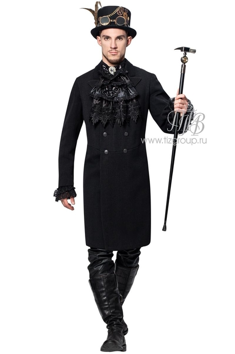 Готический Стимпанк костюм черный - купить за 25000 руб: недорогие мужские костюмы в СПб