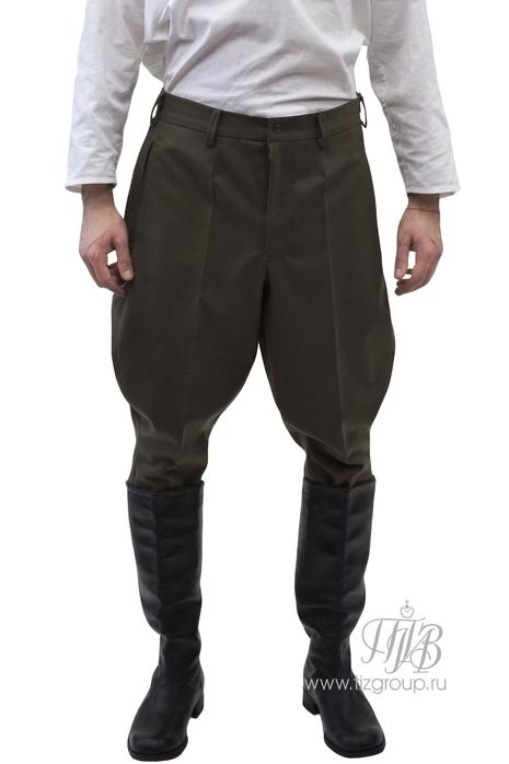 Брюки галифе уставные военные из полушерсти, синий кант - купить за 8100 руб: недорогие мужские костюмы в СПб