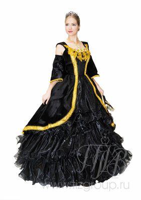 Историческое платье черное, 18 век