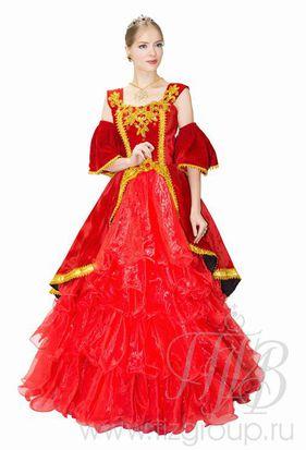Платье красное в стиле барокко