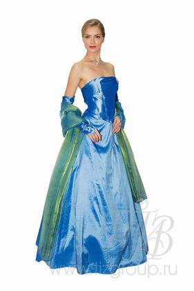 Бальное платье синее дебютантка