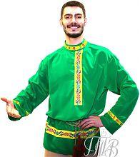 Русская мужская народная рубашка, заказать производство под заказ
