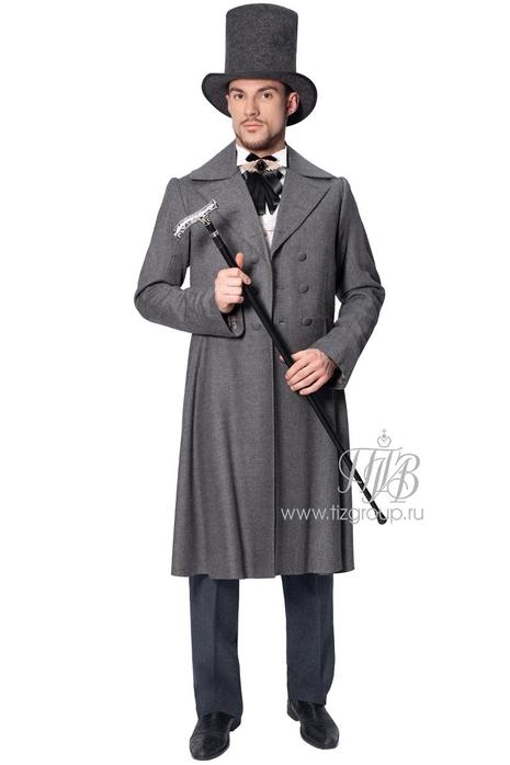 Мужской сюртук 19 века, костюм Пушкина А.С - купить за 25000 руб: недорогие мужские костюмы в СПб
