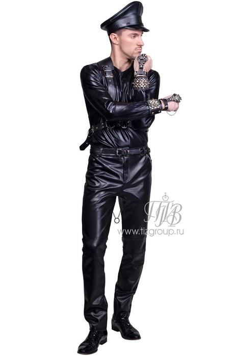 Брюки кожаные - купить за 6000 руб: недорогие мужские костюмы в СПб