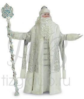 Костюм Деда Мороза серебряный